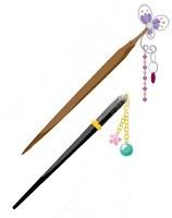 箸のかんざしのイラスト