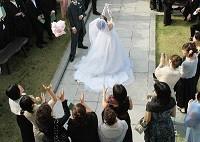 結婚式のゲストの画像