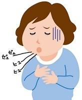 喘息のイラスト