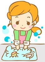 浸け置き洗いのイラスト